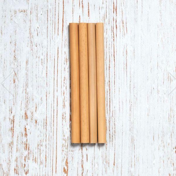 4 bambusest taaskasutatavat joogikõrt