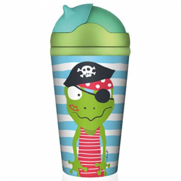 Chicmic bambusest kõrrega joogipudel Piraat Quaky
