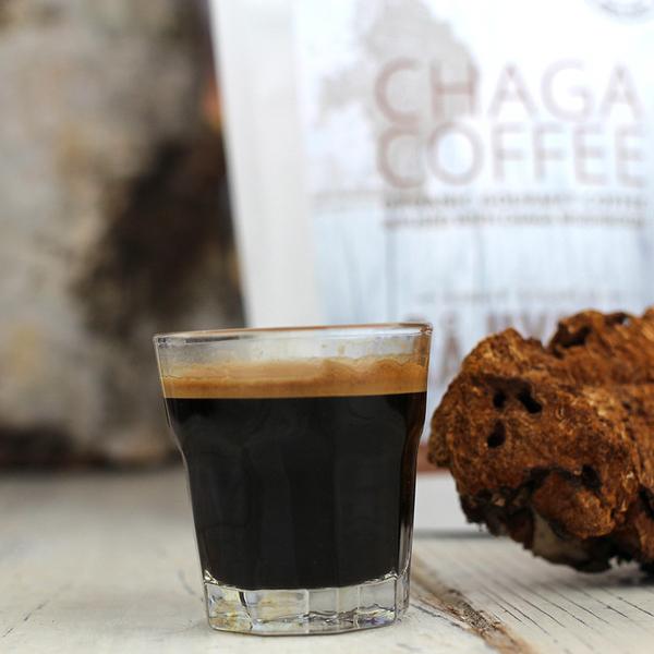 Rå Hygge CHAGA COFFEE mahe gurmeekohv musta pässiku ekstraktiga – tume röst, KOHVIOAD 227g