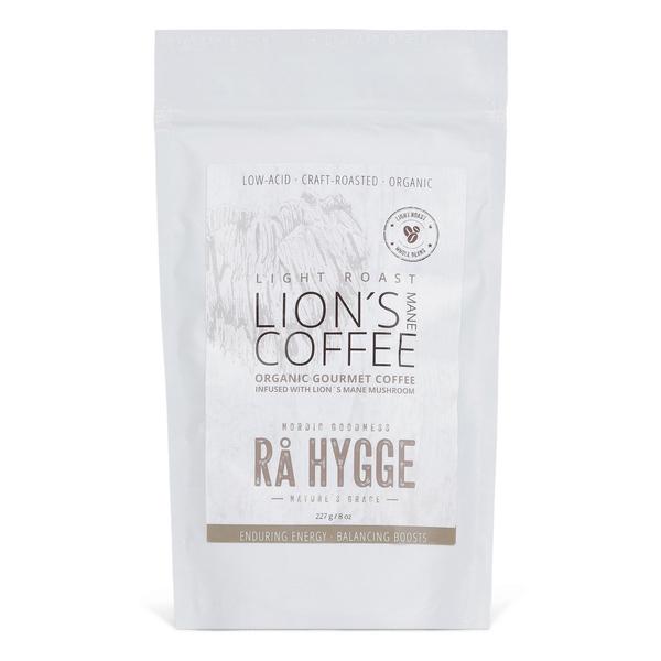 Rå Hygge LION'S MANEmahe gurmeekohv lõvilakk-korallnarmiku seene ekstraktiga – hele röst, KOHVIOAD 227g