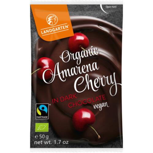 Landgarten mahe amarena kirss tumedas šokolaadis 50g