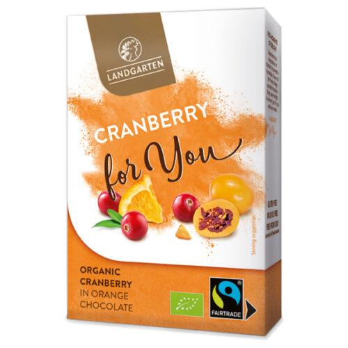 Landgarten Mahe Jõhvikas apelsinimaitselises valges šokolaadis- 90g