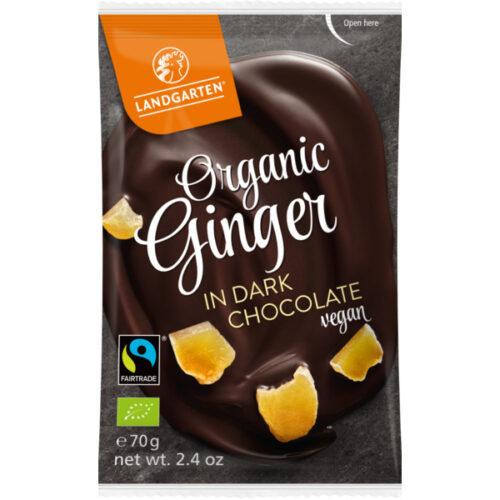 Landgartne mahe ingver tumedas šokolaadis 70g