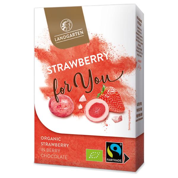 landgarten mahe maasikas valges shokolaadis 90g