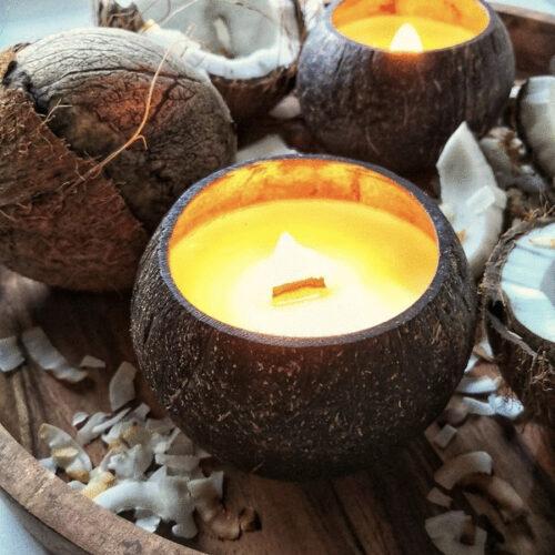 Kookose- Soja Küünal, põleb enam kui 45h