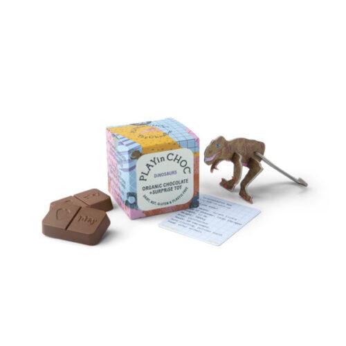 Üllatuskarbike- mänguasi ja šokolaad- Dinosaurus