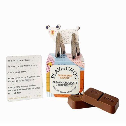 Üllatuskarbike- mänguasi ja šokolaad- Ohustatud loomad
