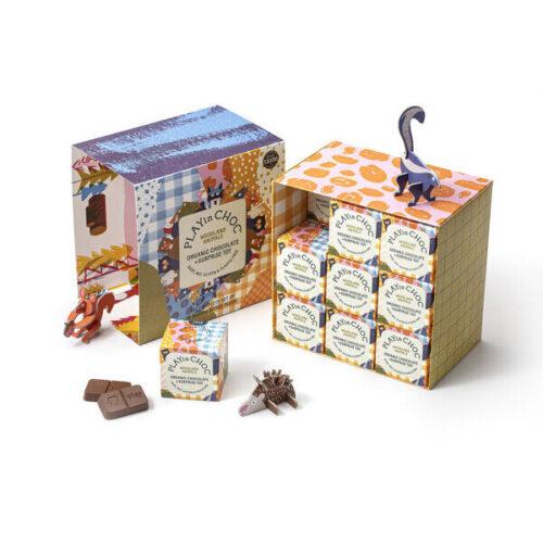 Üllatuskarbike- mänguasi ja šokolaad- Metsloomade komplekt- 18 karpi