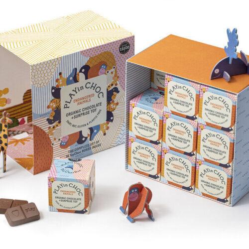 Üllatuskarbike- mänguasi ja šokolaad- Ohustatud loomaliigid- 18 karpi
