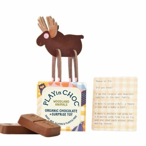 Üllatuskarbike- mänguasi ja šokolaad- Metsloom